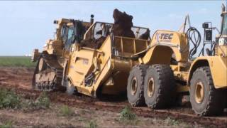 K Tec 1254 ADT Loading with D10 push Cat