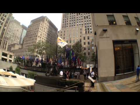 Visiting Rockefeller Center.
