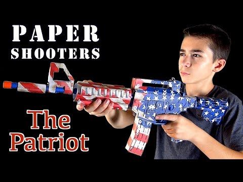 Paper Shooters The Patriot Paper Gun Review and Unboxing with Robert-Andre