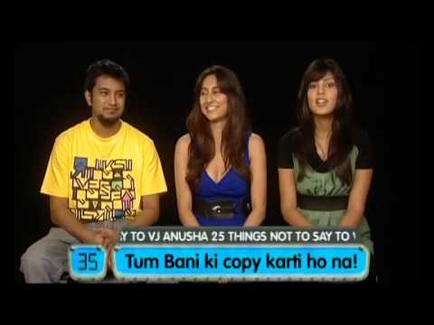 Gone In 60 Seconds - 25 things not to say to VJ anusha