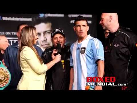 MIGUEL COTTO (155LBS) VS SERGIO MARTINEZ (158.8LBS) WEIGH IN AND QUOTES