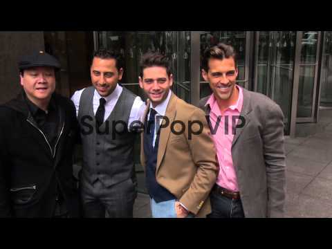 Josh Altman, Josh Flagg and Madison Hildebrand with fans ...