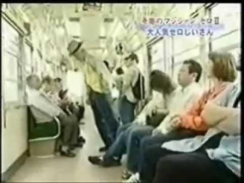Pegadinha japonesa do vovô no metro! Bonde Louco