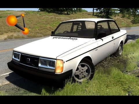 BeamNG.Drive Mod : Volvo 242 Turbo Beta (Crash test)