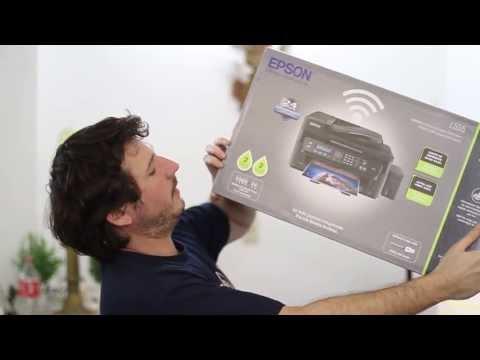 Unboxing de la Impresora Multifuncional Epson L555 con Tanque de Tinta 1/3