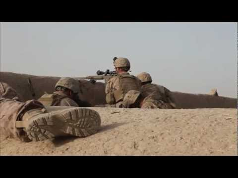 Scout Snipers Keep Eye on Enemy Movement in Afghan Village - Marine Snipers Survey Taliban Activity