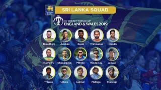 Sri Lanka announce ICC Cricket World Cup 2019 squad