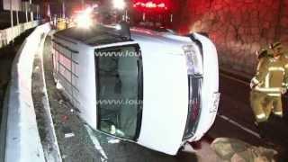 3 Dead 4 Injured in Triple Freeway Fatal / Los Angeles RAW FOOTAGE