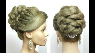 Bridal Prom Hairstyle For Long Hair Tutorial. Romantic Updo