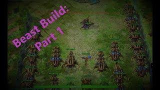 StarCraft II: Custom Gameplay: [Squadron Tower Defense] - [Beast Build: Part 1] - (1080P - 60FPS)