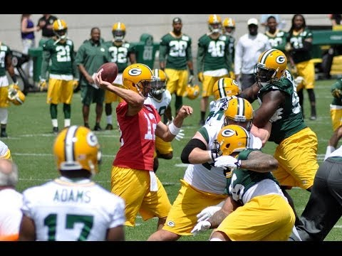 2014 Green Bay Packers OTA Practice