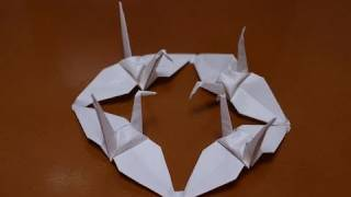 Origami Cranes Hold On - Pray For Japan