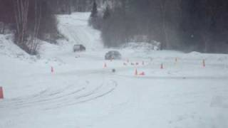 me driving the subaru at team oneil