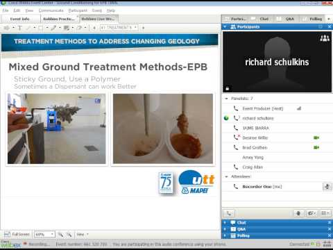 Robbins Webinar: EPB Ground Conditioning