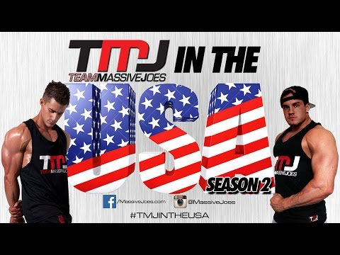 TMJ In The USA! Season 2 Ep 2: Gold's Venice Chest Workout | MassiveJoes.com Mr Olympia Tour 2014