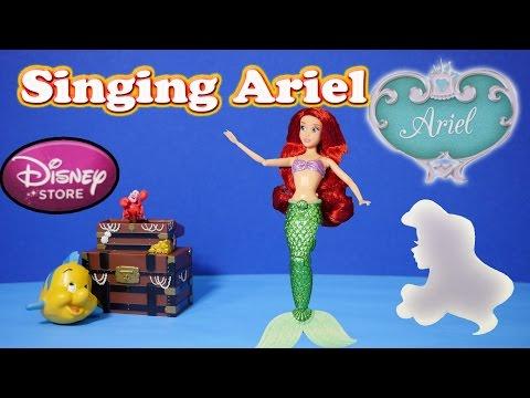 ARIEL LITTLE MERMAID Disney Princess Singing Doll Little Mermaid Video Toy Review