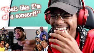 "People REACT to ""Hit Rap Songs in Voice Impressions!"""