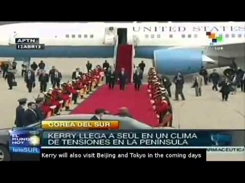 John Kerry arrives in Seoul amid Korean crisis