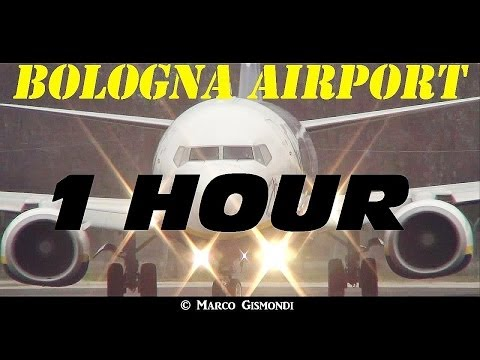 1 HOUR of Plane Spotting @ Bologna G. Marconi Intl. Airport