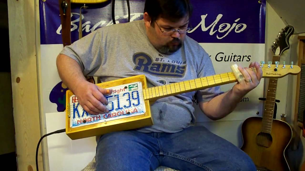 License plate guitar 215 by back porch mojo youtube