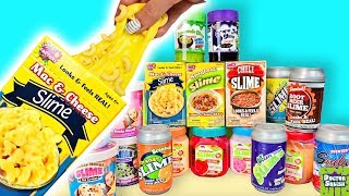 Food Slime MEGA HAUL! Mac & Cheese And Chili Slime?