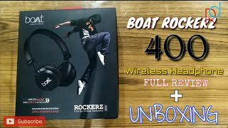 BOAT ROCKERZ 400 Bluetooth Wireless Headphone UNBOXING 🎧 | FULL REVIEW | FEATURES & SPECIFICATIONS