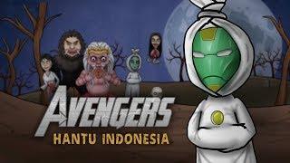 Avengers Infinity War Parody - Memedi War / Serangan Hantu Indonesia - Not Low Budget   Kartun lucu