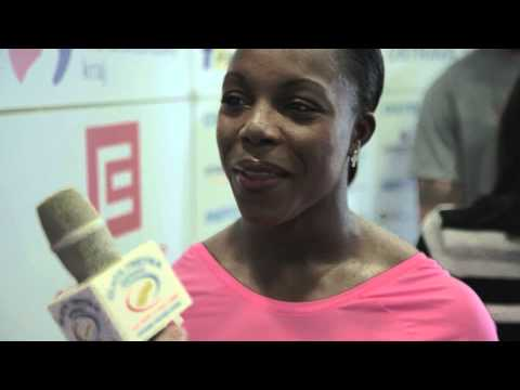 Veronica Campbell-Brown - interview before Ostrava Golden Spike 2012
