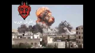 Shaitan press - Aircraft droping bombs. Assad attack!