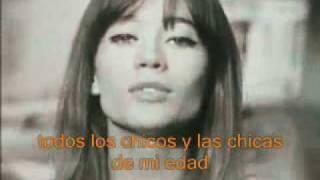 Tous Les Garçons Et Les Filles Françoise Hardy Subtítulos En Español