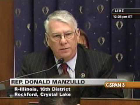Rep. Manzullo questions Treasury Secretary Geithner and Fed Chairman Bernanke on AIG Bailout