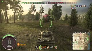 World of Tanks (Ps4) Object 140 on Murovanka 6 kills, 7.3k+ dmg, nice teamwork with T110E5