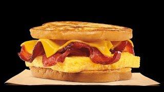 New! Burger King French Toast Breakfast Sandwich Bacon