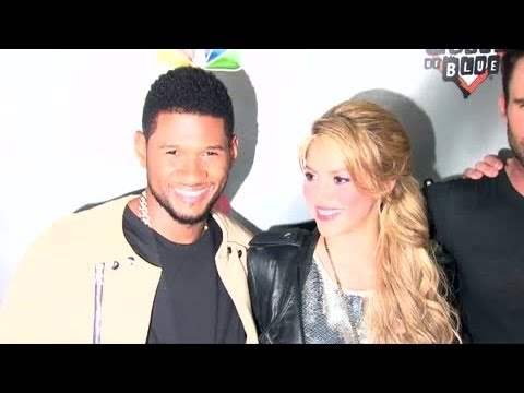 Usher and Shakira Leaving The Voice - Splash News