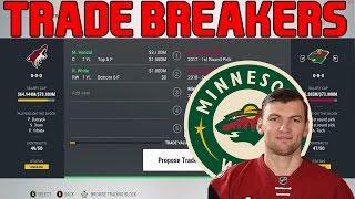 Trade Breakers: NHL 17 Trade Simulation. Hanzal To Minny!