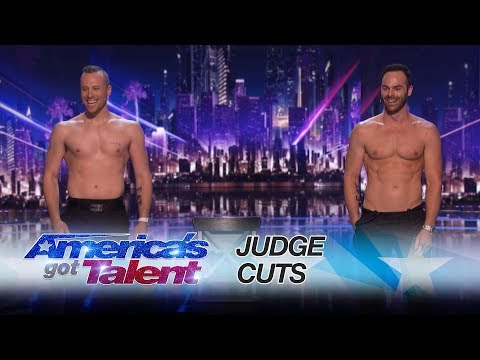 The Naked Magicians: Magician Duo Strips Down In Magic Show - America's Got Talent 2017