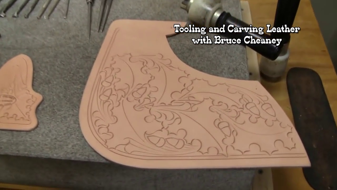 Carving leather pictures