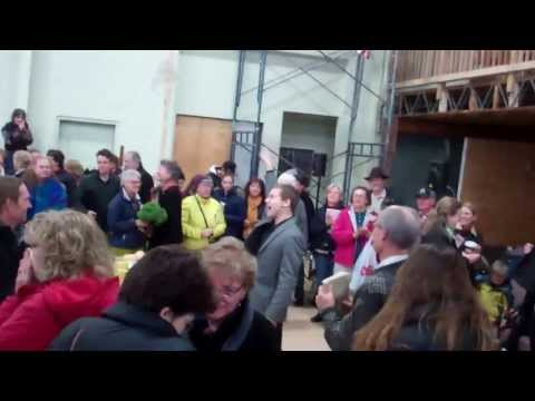 Hallelujah Chorus Flash Mob at Rutland County Farmer