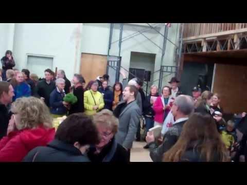 Hallelujah Chorus Flash Mob at Rutland County Farmer