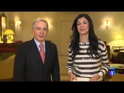 Entrevista al expresidente Álvaro Uribe Velez en el noticiero LD Los Desayuno de España