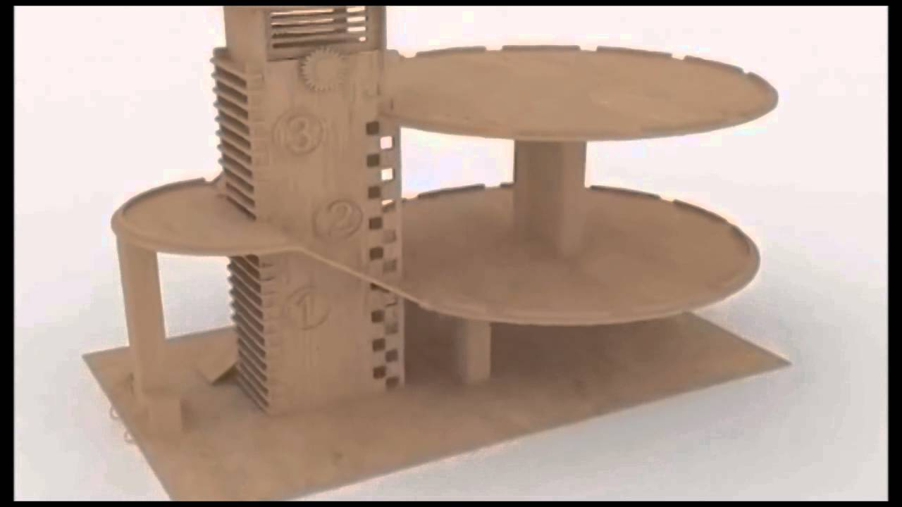 laser cutting plans Parking Garage building wood toy CNC ...