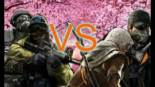 РЭП БАТТЛ Counter Strike:Conition Zero & Counter Strike VS Assaseen's Creed:Oringins & Watch Dogs I