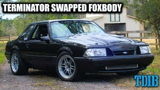Terminator Fox Body Mustang Review! Supercharger Whine of GLORY