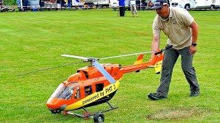 BK-117 (EC-145) GIANT RC SCALE MODEL TURBINE HELICOPTER FLIGHT DEMONSTRATION