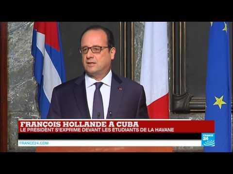 REPLAY - Revivez le discours historique de François Hollande à Cuba