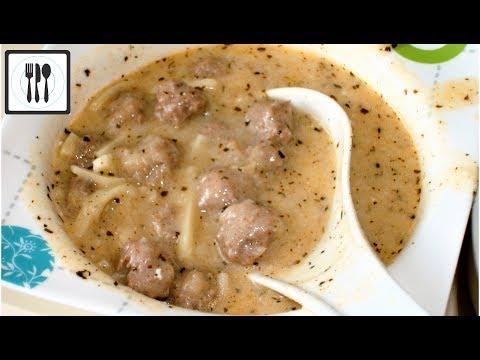 Суп Лапша домашняя с фрикадельками. Турецкий йогуртовый суп/Eristeli topalak corbasi