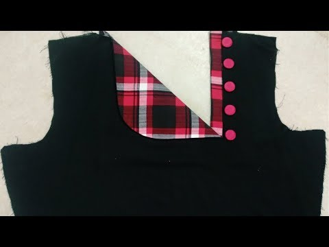 Easy and Beautiful Neck Design Cutting and Stitching || Reet Designs