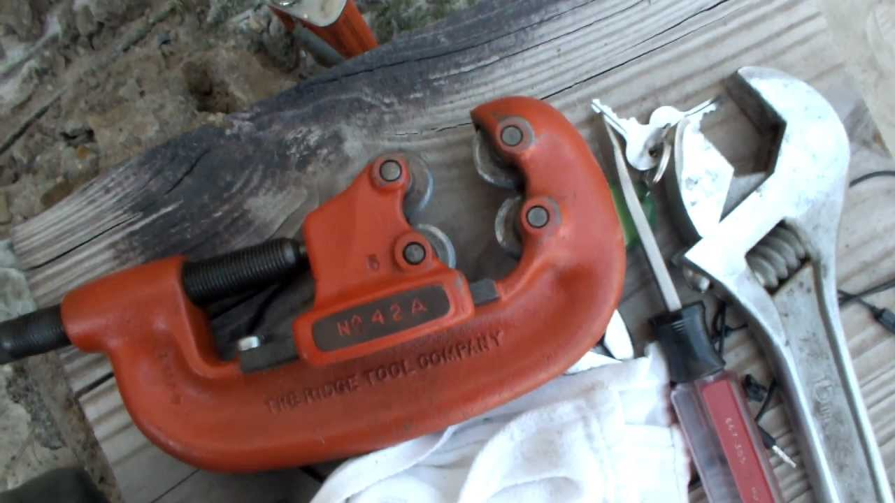 Galvanized pipe cutter images