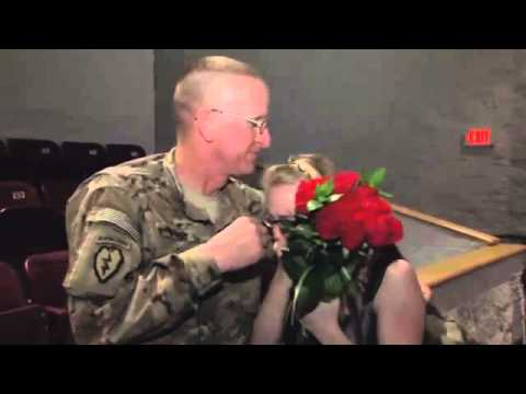 Fort Campbell Soldier Surprises Daughter at School Performance - Erika Lathon