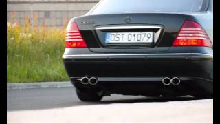 Mercedes Benz W220 S 500L Exhaust sound /straight pipes